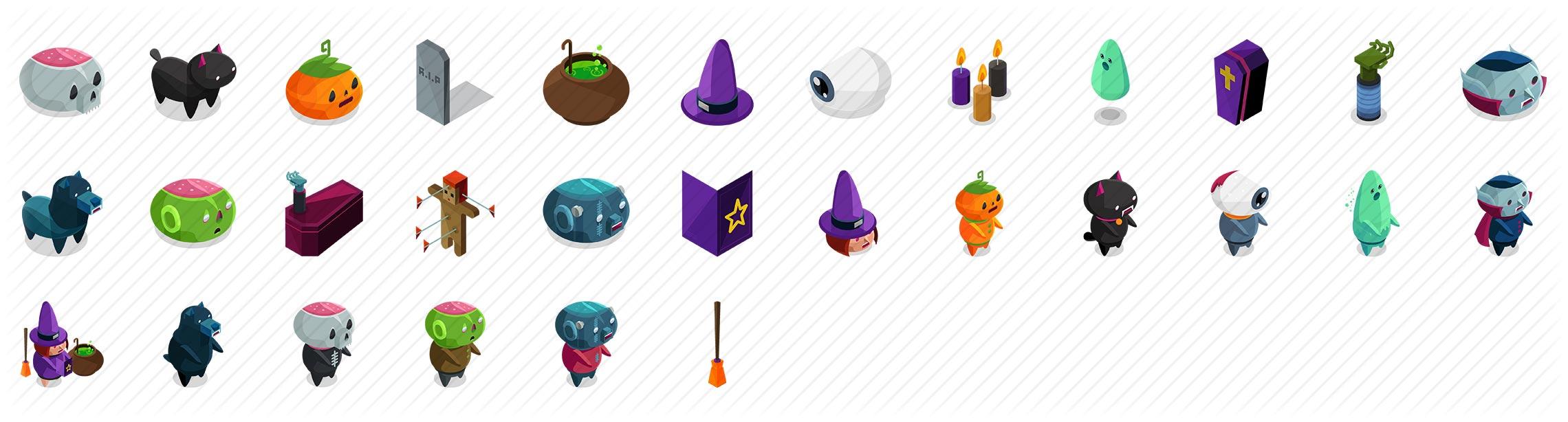 Halloween Isometric Icons