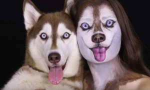 Israeli-makeup-artist-transforms-herself-into-her-dog