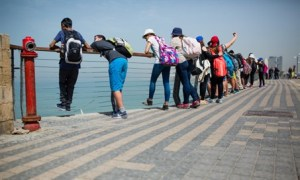 tourists tle aviv