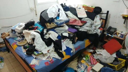 The ransacked Acre apartment of 92-year-old Holocaust survivor Michael. Photo: Facebook.