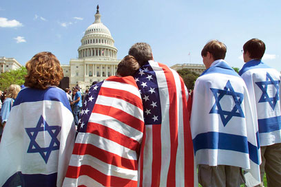 America and Israel. Gallup poll shows 70% of Americans view Israel favorably (Photo: AP)