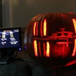 ISS-Above Pumpkin – Raspberry Pi based system that flashes when the International Space Station is nearby