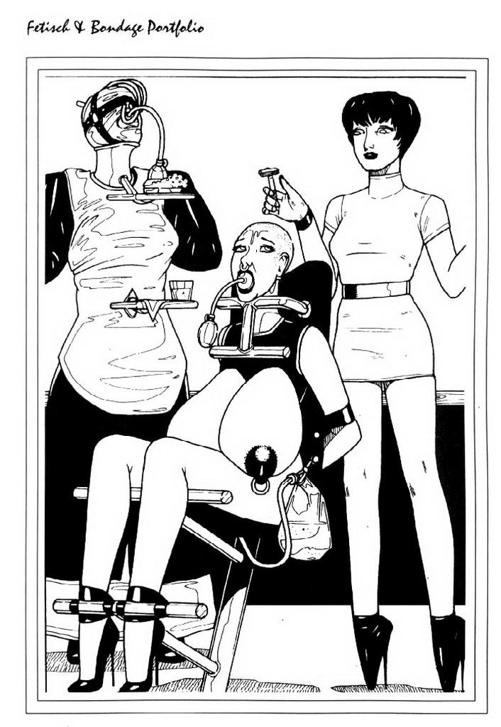 Sick BDSM Art BDSM comics Bondage cartoons Bondage