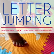 Playful Wednesday - Letter Jumping
