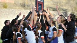 Idaho State's women's soccer team celebrate its Big Sky championship win on Sunday, Nov. 4.