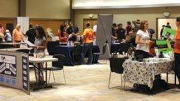 The part-time job fair was held Wednesday, Sept. 5, in the PSUB ballroom.