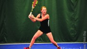 Kasey Bacon plays in a match against North Dakota on Friday, April 12.