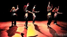 The Tribal Fusion Belly Dance Club perform during a Danson production in Fall 2012.
