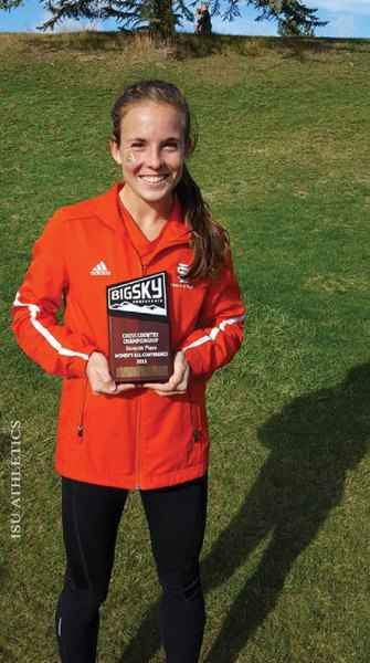 Jenica Dodge with Big Sky award