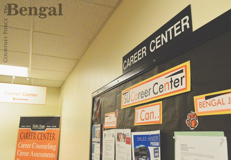 ISU Career Center bulletin board