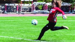 Shawna Hennings on the soccer field.