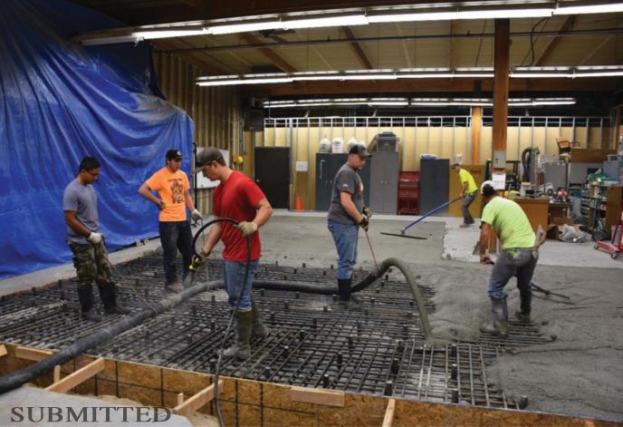 ISU Structural Lab construction