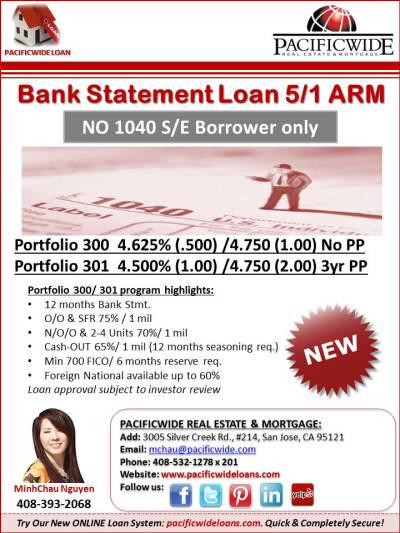 Bank Statement Loan 5/1 ARM