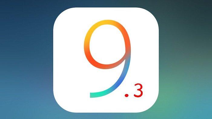Apple выпустила для разработчиков релиз iOS 9.3.3 beta 2
