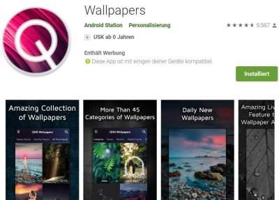 Android: Regelmäßig wechselnde HD Wallpaper - auch eigene Fotos einfach zu Hintergrundbildern ...