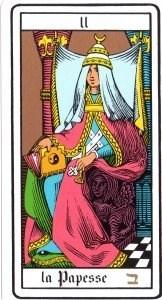 La Papesse - carta II dei tarocchi esoterici di Oswald Wirth