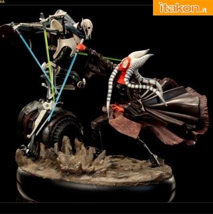 Sideshow: Hunt for the Jedi: Shaak Ti VS General Grievous Diorama - Info Preordini