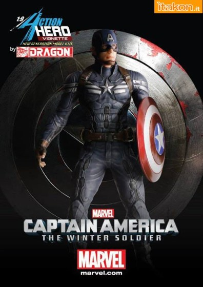 Dragon Models: Captain America The Winter Soldier 1/9 scale statue