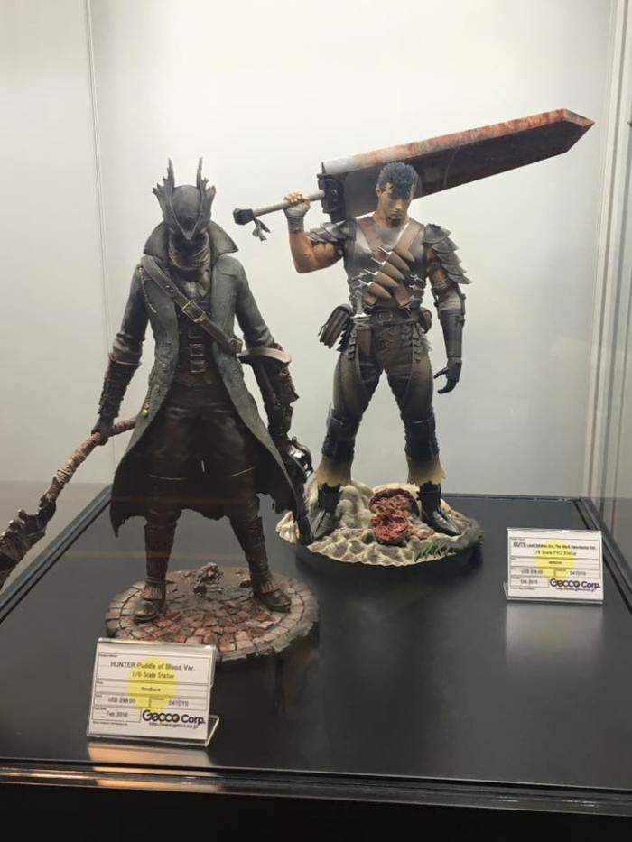 Gecco con Hunter da Bloodborne e Gatsu da Berserk