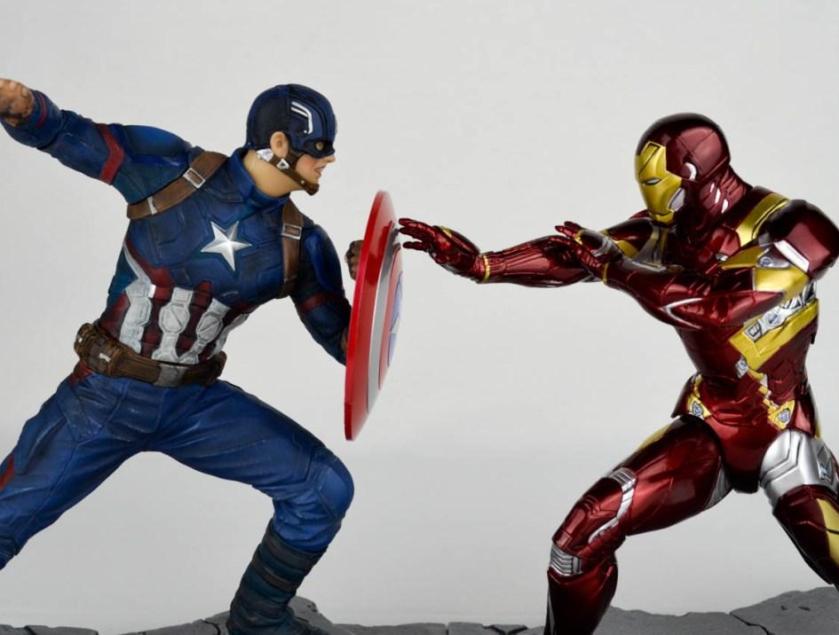 Kotobukiya: Captain America vs Iron Man ARTFX+ da Civil War – Recensione