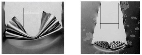 concertina-tearing