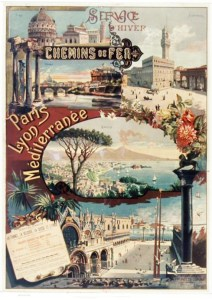 Travel to Italy. French Vintage poster from the 1890s
