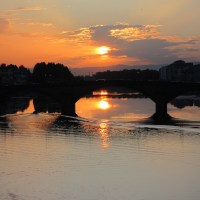 Sunset, the Arno and Me.