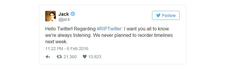 Twitter не будет менять привычную ленту вывода новостей