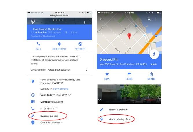 Картографический сервис Google даст возможность пользователям вносить изменения вкарты