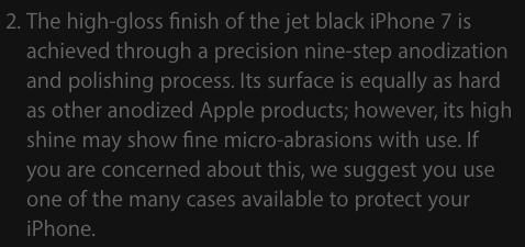 iPhone 7 в новому чорному глянсовому корпусі легко дряпається, Apple рекомендує використовувати чохли з такими моделями
