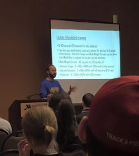 My friend took this picture of me delivering my speech at the WISTCA Clinic in Madison, WI.
