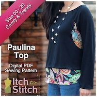 Itch to Stitch Digital Sewing Pattern Paulina Ad 200 x 200
