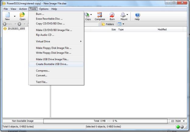 Create mac os install usb