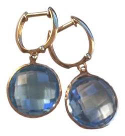 Small Of Blue Topaz Earrings