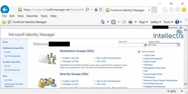 Configuring Azure Traffic Manager Screenshot: Portal Being Accessed Through Traffic Manager