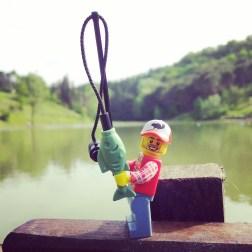 Pescatore al lago