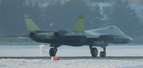 俄罗斯五代机t50飞机后视图