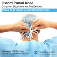 Curso Prótesis parcial de rodilla tipo Oxford