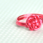 DIY Rose-Shaped Wire Rings