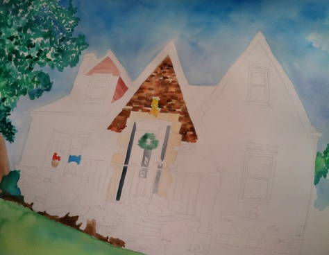 watercolor-art-progress shot
