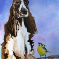 English Setter Day 2 of 30 paintings in 30 days.