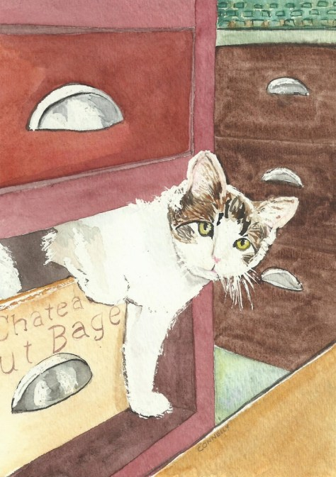Cats Painted In Watercolor Day 17 September 2016