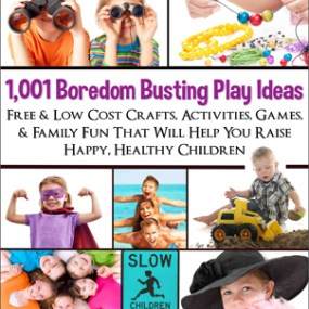 Get the Book: 1,001 Boredome Busting Play Ideas for families and kids.