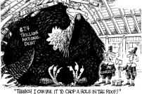 The Gian Turkey that is Our Debt Cartoon