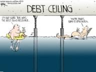 Debt Flood Cartoon