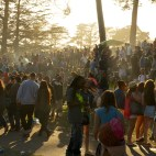 Golden Gate Park 420 rally, where you get an involuntary contact high.