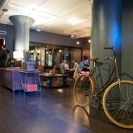 WeWork SoHo West fourth floor lobby bicycle