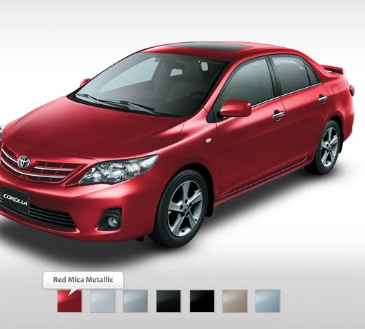 Toyota-corolla-2013 All version-Red-color in Dubai