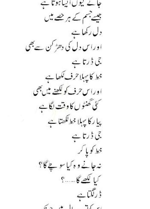 urdu-poetry-pyar-ka-phala-khat-pakistan
