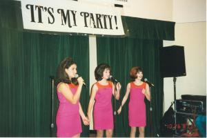 IT'S MY PARTY! (Vanessa, Aubrey & Roseanna) performing at the Eisenhart Auditorium 10-26-1997